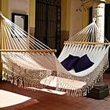 Novica Hand Crocheted White Cotton Maya Daydream Hammock ($157)