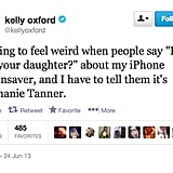 @kellyoxford is a fan of a certain Full House actress.