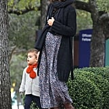 Camila Alves McConaughey walked daughter Vida to church services in Austin.