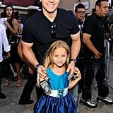 Mark Wahlberg with daughter Ella Wahlberg.