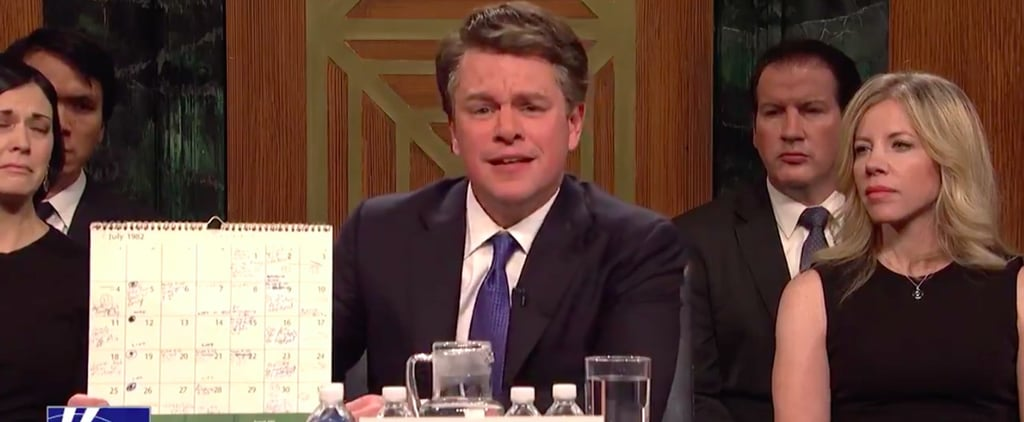 Matt Damon as Brett Kavanaugh SNL Cold Open Sept. 29 2018