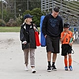 Reese Witherspoon and Jim Toth took her son Deacon to his soccer game in LA.