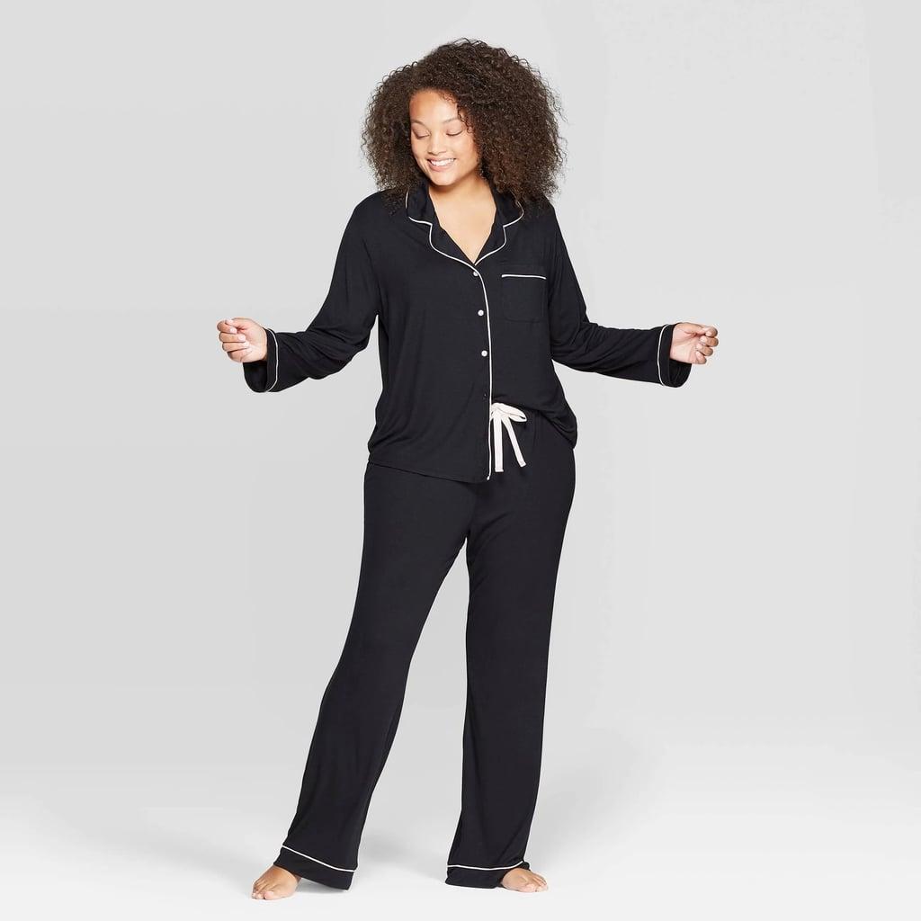 Women's Plus-Size Beautifully Soft Notch Collar Pajama Set