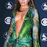 Jennifer Lopez Wore Versace Dress to the 2000 Grammy Awards