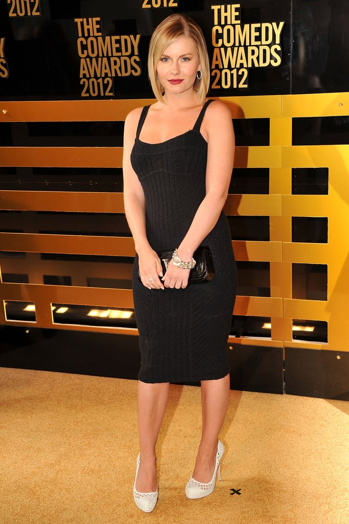 Elisha Cuthbert got sexy in black at the Comedy Awards in NYC.