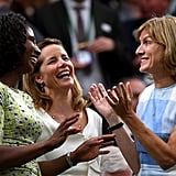 Denise Lewis, Darcey Bussell, and Fiona Bruce at Day 8 of Wimbledon