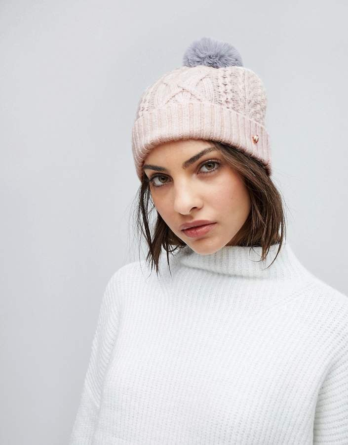 Ted Baker Cable Knit Bobble Hat  d264a2b9c83