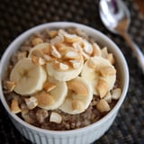 PopsugarFitnessHealthy RecipesSlow-Cooker Steel-Cut OatmealThe Easiest Slow-Cooker Breakfast For Weight Loss January 20, 2016 by Jenny Sugar2.8K Shares Chat with us on Facebook Messenger. Learn what's trending across POPSUGAR.If you want a heartier — and healthier — bowl of oatmeal, choose less-processed steel-cut oats. The only issue is that they take much longer to cook — at least 40 minutes. Making a big batch to freeze is a great option, but if you didn't have time to do that over the weekend, this is the quickest, easiest way to wake up to a warm, comforting bowl. All you need is a slow cooker and a good night's sleep. Just pop a few ingredients in, turn it on before bedtime, and the cinnamony smell will lure you out of bed into your kitchen. This is a pretty basic recipe, so you can dress it up however you like. Below, you'll find nutritional info for a few flavor combinations, but feel free to get creative. This recipe makes four servings, so if you don't have anyone to share it with, just save - 웹