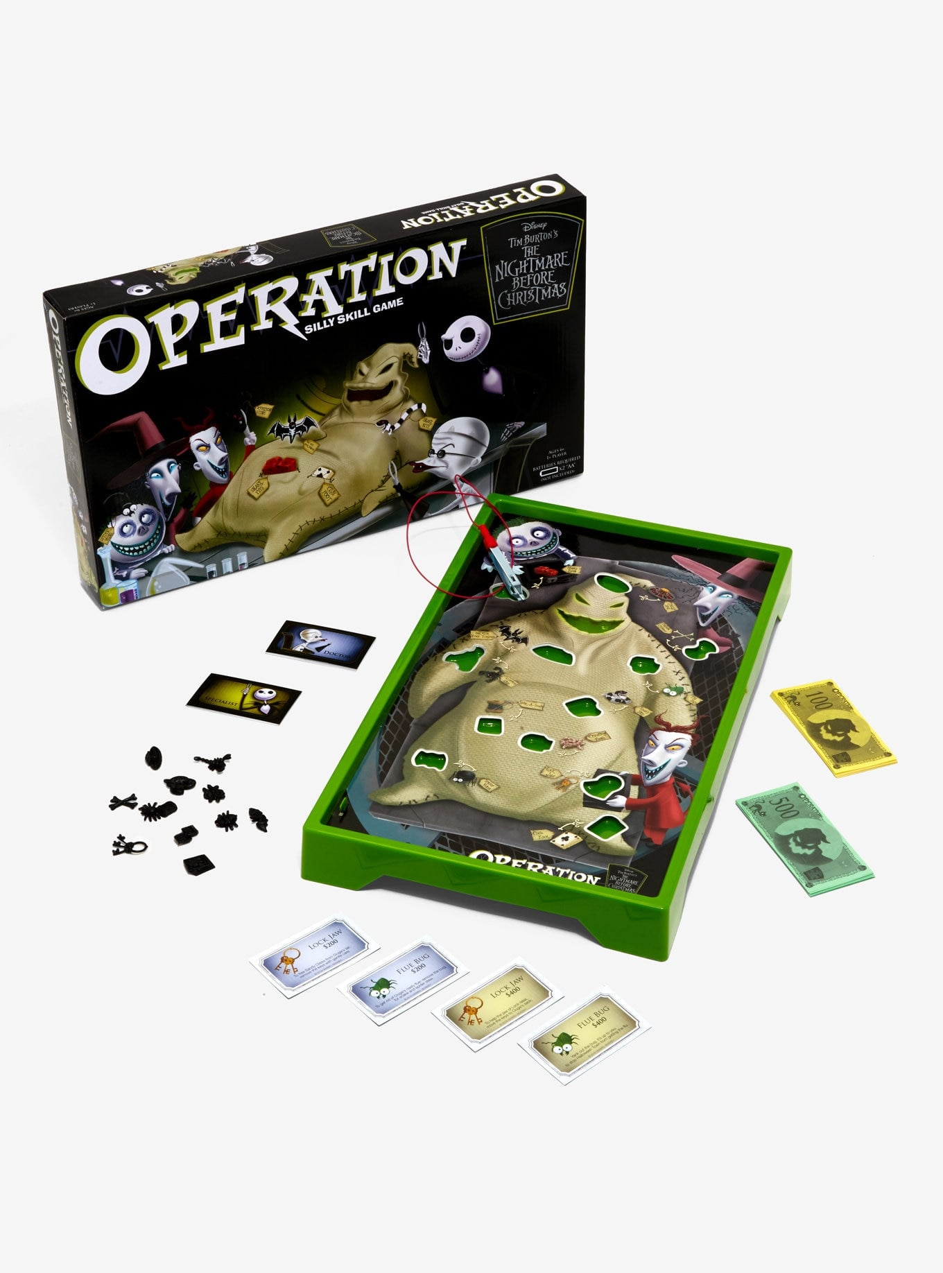 Christmas Operation Game.The Nightmare Before Christmas Oogie Boogie Edition