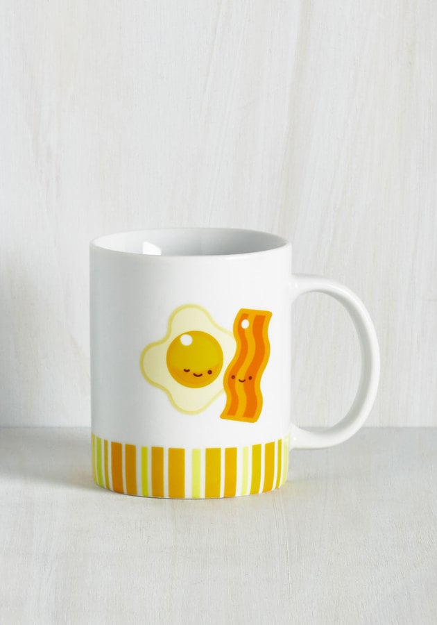Breakfast Track to Success Mug in Bacon and Eggs ($12)