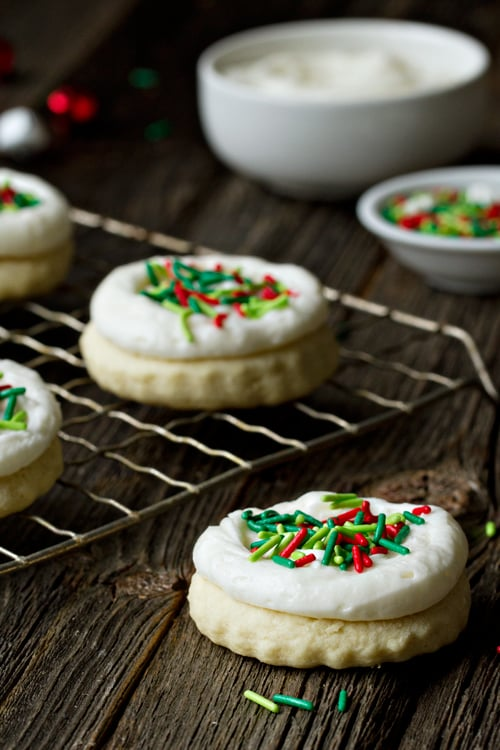 Sour Cream Cutout Cookies Iced Christmas Cookie Recipes Popsugar