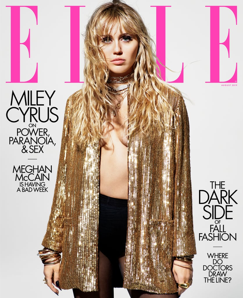 Miley Cyrus Elle August 2019 Cover