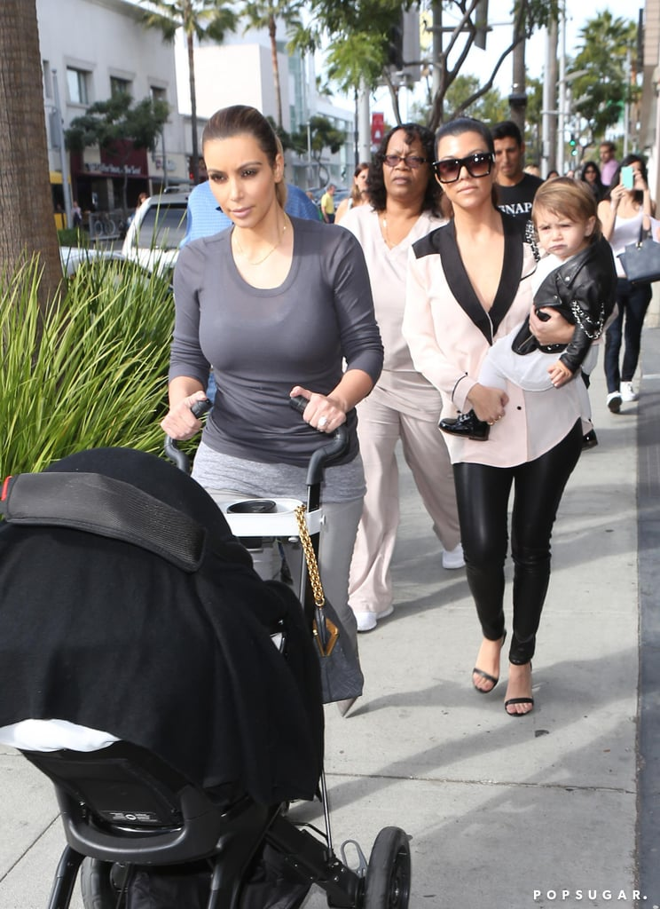 Kim and Kourtney Kardashian both stepped out with their daughters.