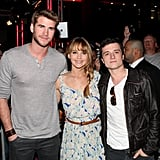 Liam Hemsworth, Jennifer Lawrence, and Josh Hutcherson posed together at a fan event in LA earlier this month.