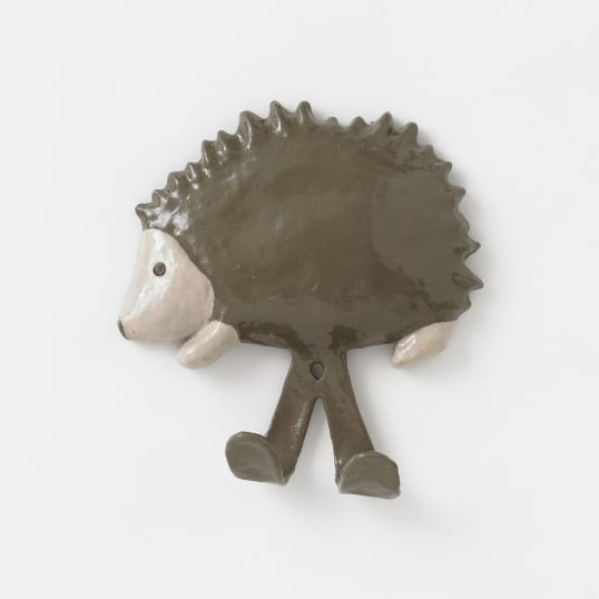 Hedgehog Papier-Maché Wall Hook