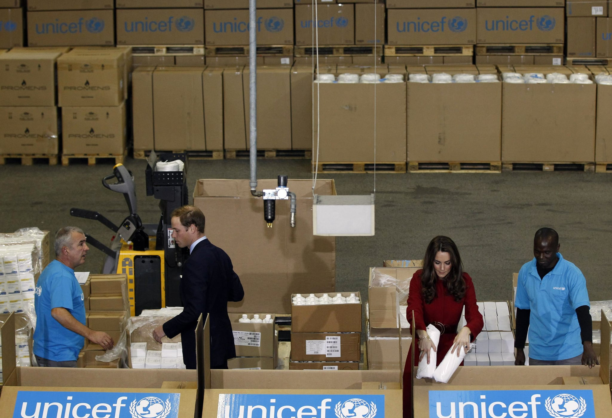 Kate Middleton and Prince William paid a visit to a UNICEF center in Copenhagen.