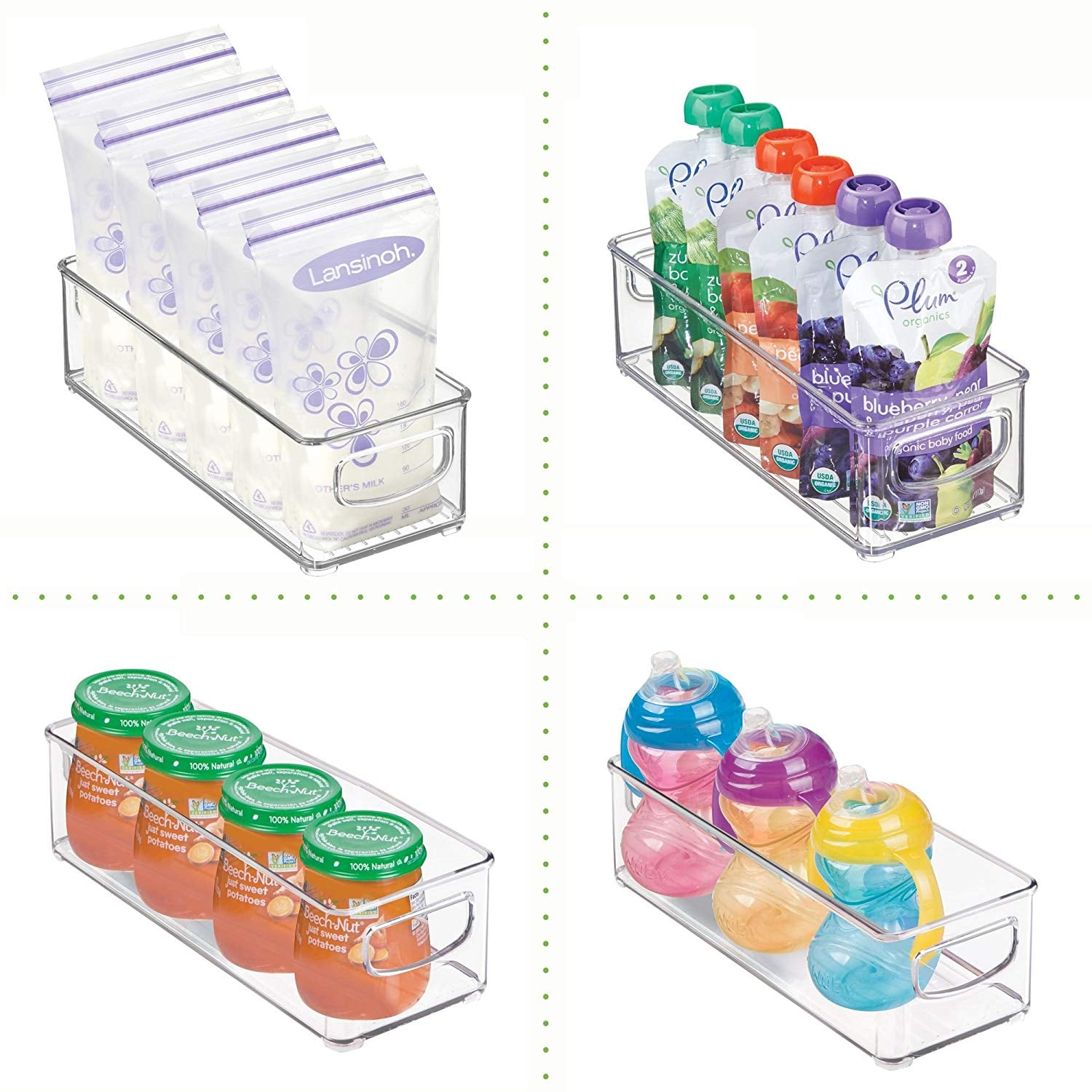 mDesign Baby Food Kitchen Refrigerator Cabinet or Pantry ...