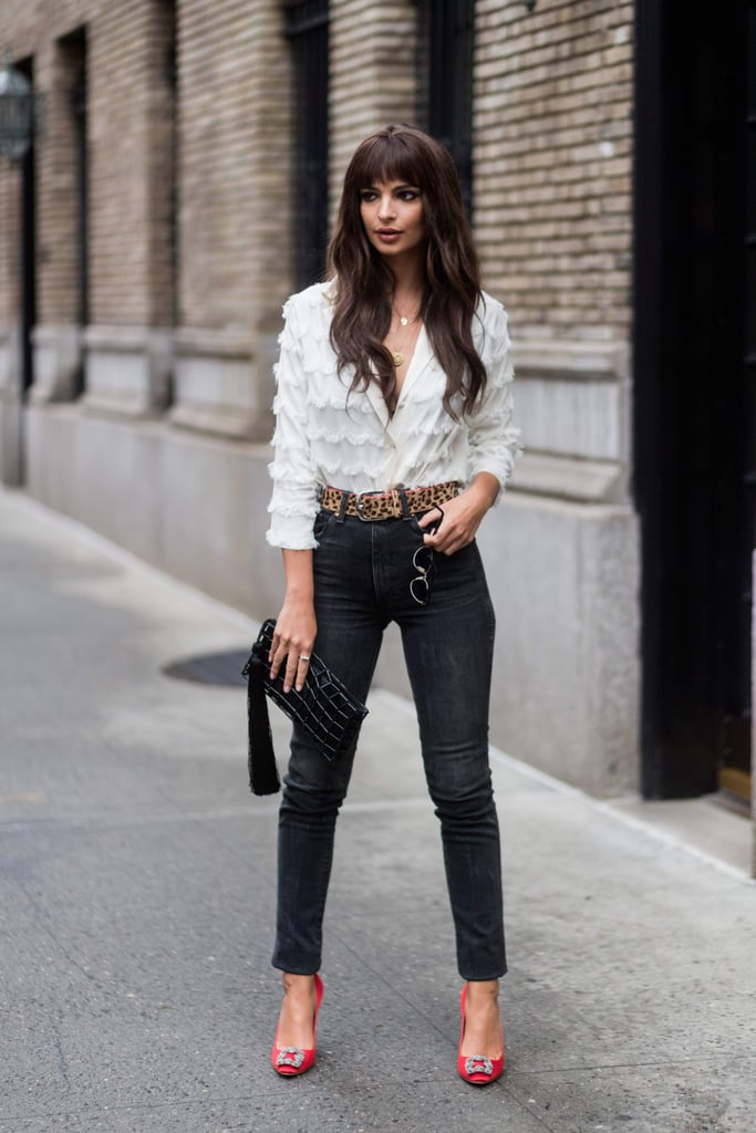 Emily Ratajkowski Styled Her '80s-Inspired Look With the Perfect High-Octane Heels