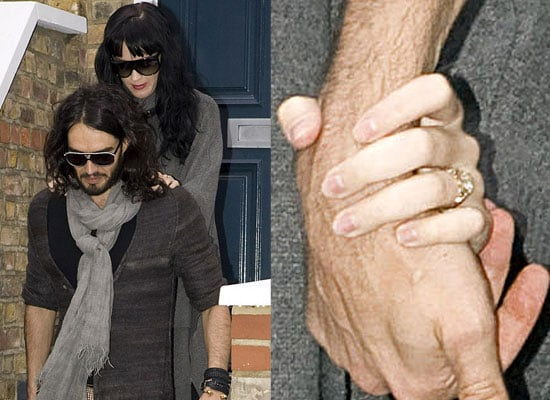 Photos of Russell Brand and Katy Perry Wearing Her Engagement Ring in London
