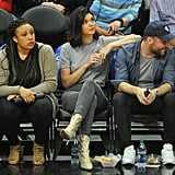 Kendall Jenner's Snakeskin Boots at Basketball Game
