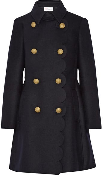 Red Valentino Scalloped Double-Breasted Wool-Blend Coat ($1,100)