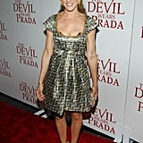 This woman has the most amazing shoe collection! At The Devil Wears Prada premiere in 2006.