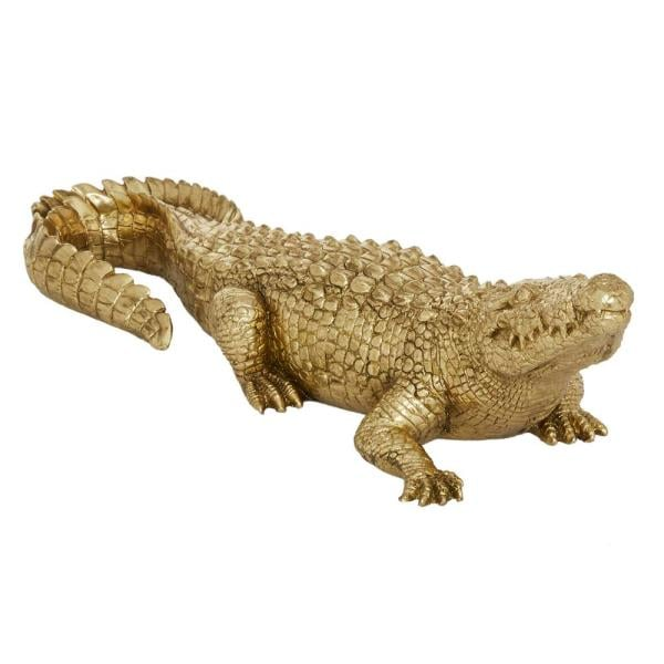 Litton Lane Metallic Gold Alligator Sculpture Table Decor