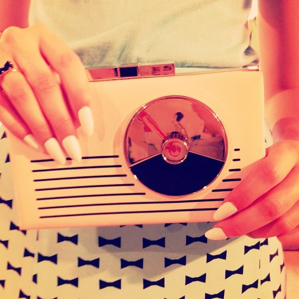 Lauren Conrad took a snap of this amazing Kate Spade bag before her NYFW show. Source: Instagram user laurenconrad