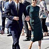 Meghan's Sophisticated Green Outfit