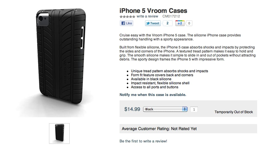 Case-Mate Posts Images of iPhone 5 Cases Online