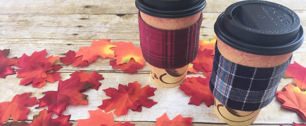 Deck Out Your Fall Drinks With These DIY Flannel Coffee Koozies