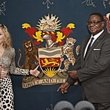 Madonna paid a visit to Malawi.