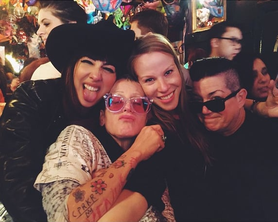 Jackie had a fun night out with castmates Lori Petty, Emma