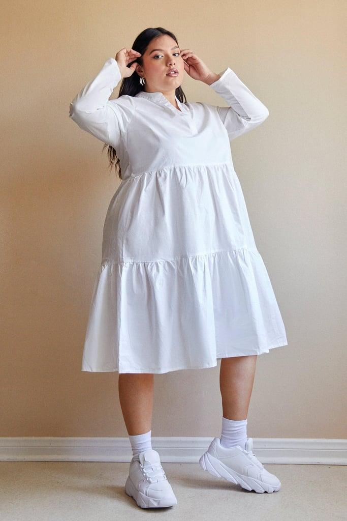 Nasty Gal Tiered V Neck Midi Dress