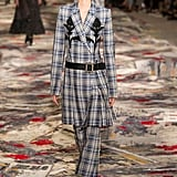 We'd love to see her try a classic silhouette she already loves, but with some intricate embroidery. It's a print-on-print situation we think Kate can definitely handle. Alexander McQueen Spring 2017.