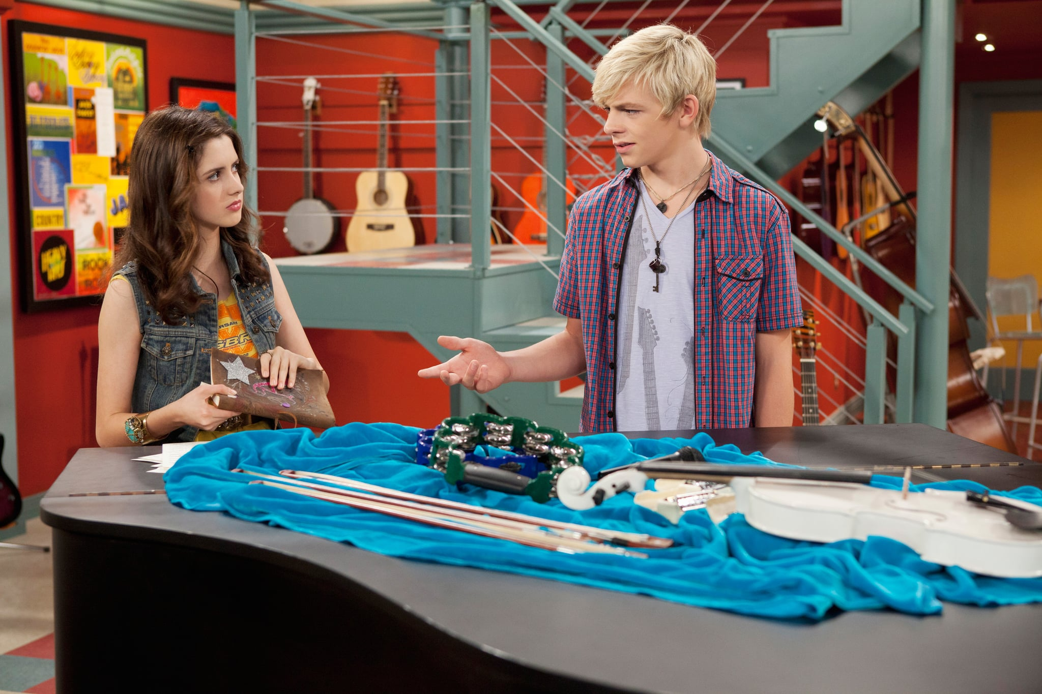 AUSTIN & ALLY, (from left): Laura Marano, Ross Lynch, 'Secrets & Songbooks', (Season 1, ep. 103, aired Dec. 11, 2011), 2011-. photo: Bruce Birmelin /  Disney Channel / Courtesy: Everett Collection