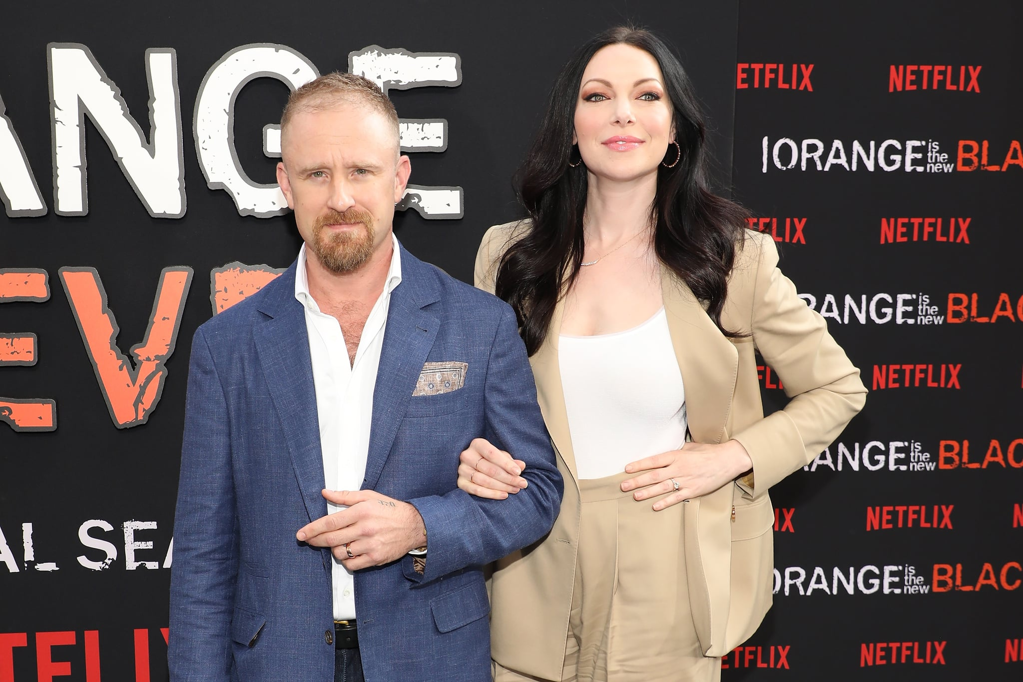 NEW YORK, NEW YORK - JULY 25: Ben Foster and Laura Prepon attend the