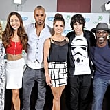 Pictured: Eliza Taylor, Lindsey Morgan, Ricky Whittle, Marie Avgeropoulos, Devon Bostick, and Isaiah Washington.
