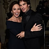 Ian Somerholder smoldered while Diane Lane smiled at Heifer International's Beyond Hunger gala in Beverly Hills on Friday.