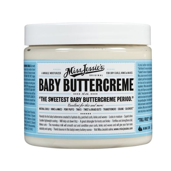 A big tub of Baby Buttercreame ($59) is something the entire family can use. It only takes a small amount to tame dried-out, tangled kinks, and it smells amazing!
