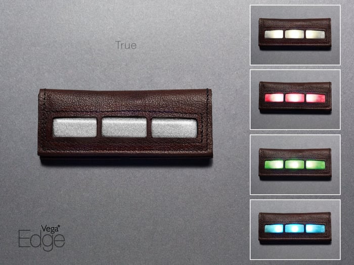 The second design is a rectangular shape called True. Like the Trapezoid, it comes with light options in white, red, green, and blue.