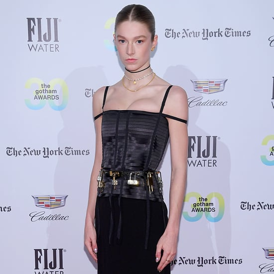 Hunter Schafer's Black Bustier Givenchy Dress and Gold Belt