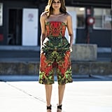 Christine Centenera gave us another enviable style moment in a printed peplum top and bermuda shorts set. Source: Le 21ème   Adam Katz Sinding
