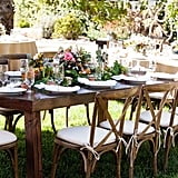 Wooden Table Setting