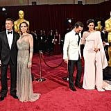 The red carpet was packed full of stars, including Brad Pitt and Angelina Jolie, who posed next to Matthew McConaughey and Camila Alves, and Jonah Hill.
