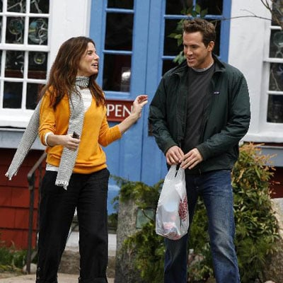 Sandra Bullock and Ryan Reynolds on the Set of Proposal
