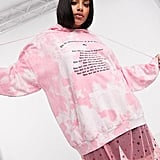 New Girl Order Curve Oversized Hoodie in Tie Dye