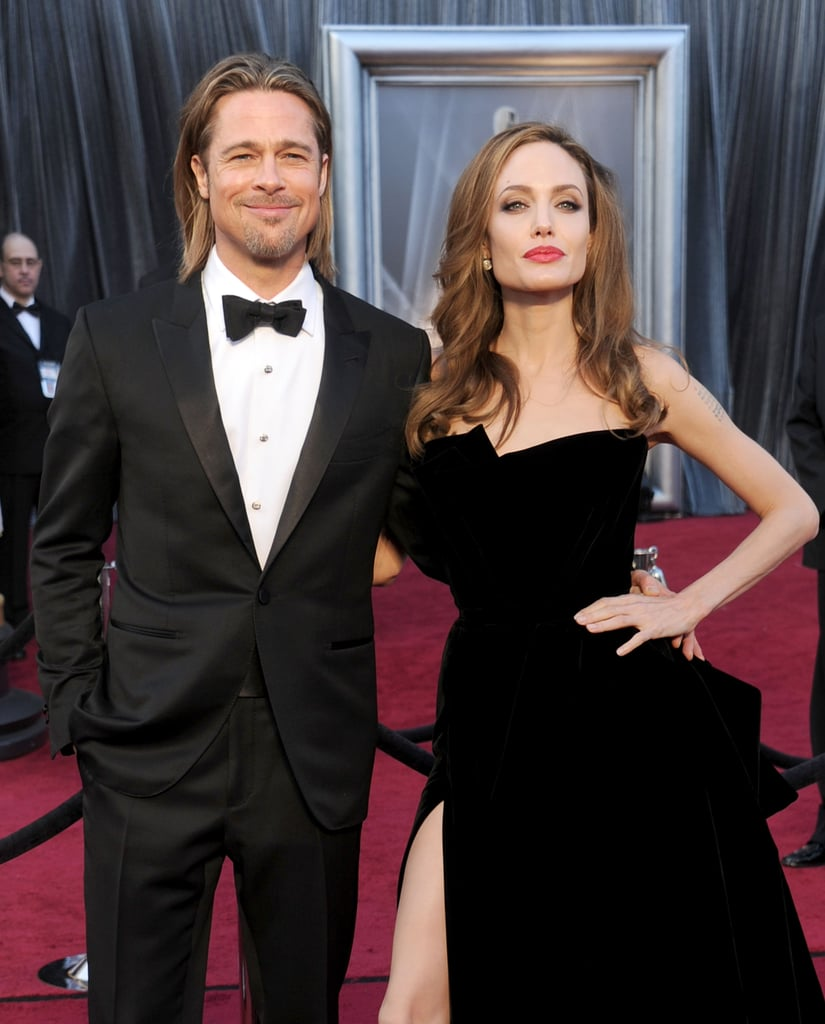 He may have been outshown by Angelina's leg at the 2012 Oscars, but he still looked ridiculously hot with his slicked-back hair and bow tie on the red carpet.
