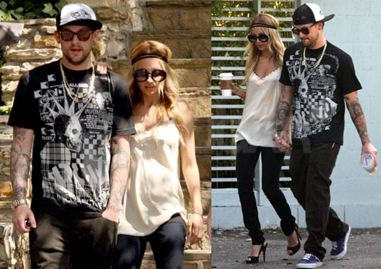 Photos of Nicole Richie and Joel Madden House-Hunting in Hollywood Hills