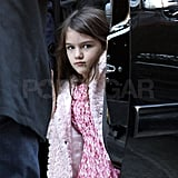 Suri Cruise visited NYC's Chelsea Piers.
